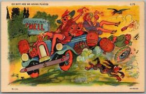 """1940s RAY WALTERS Postcard """"Oh Boy! Are We Going Places"""" Curteich Linen C-75"""