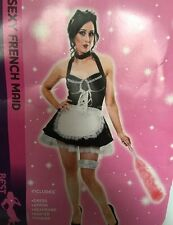 LADY SEXY MAID FRENCH MAID DRESS COSTUME HALLOWEEN REDUCED CLEAR MEDIUM LADIES H