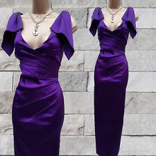 Size 14 UK Karen Millen Purple Origami Satin Long Maxi Ballgown Wedding Dress