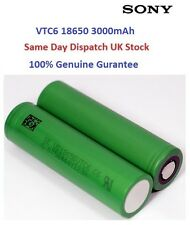 2 x Sony US18650 VTC6 3000mAh High Drain Authentic Rechargeable Battery UK Stock