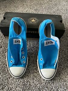 Converse All Star Low Top Lace Up Fashion Sneakers, Blue, Size Men's 8 & WO's 10
