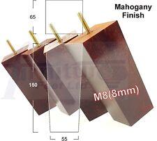4x en bois de remplacement Pieds Meubles jambes 150 mm haute Canapé, Fauteuil, Tabouret M8 (8 mm)