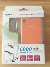 Apacer PowerBank 6000mAh: Mobile Tablet USB Fast Battery Charger ORANGE