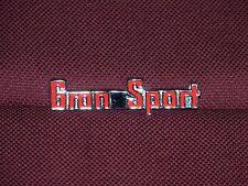 65 BUICK RIVIERA GRAN SPORT GS SMALL REAR PANEL EMBLEM 1965 BADGE