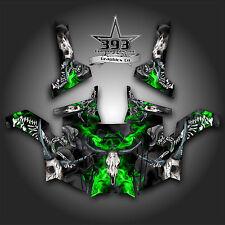 Polaris RZR 800 UTV Graphics Decal Wrap 2011 - 2014 Skull Rider Green