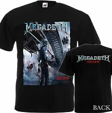 NEW T-SHIRT ''DYSTOPIA BY THRASH METAL BAND MEGADETH'' DTG PRINTED TEE-S-6XL