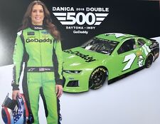 2018 DANICA PATRICK GO DADDY DANICA DOUBLE #7 NASCAR MONSTER ENERGY CUP POSTCARD