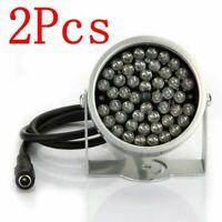 BW Lot de 2 projecteurs à 48 LED équipés d'une caméra de surveillance infrarouge