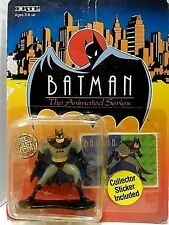 Batman The Animated Series Die Cast Metal + Sticker DC comic ERTL figurine NIP