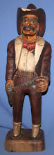 Vintage Lee Jeans Hand Carved & Painted Wood Cowboy Advertising Statuette