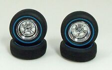 Amt 4 Two Sided Tires,One Side is Red, Other Side Blue, Wheels, Rings 1:25 st221