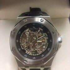 Lucien Piccard Men's 28586BR Skelton Automatic Brown Rubber Watch
