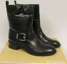 MICHAEL KORS Stiefel mit silberfarbenem Logo - 38.5 / US8 - ROSWELL boot -black