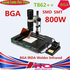 T 862+ + BGA INFRAROJOS IRDA Soldador Estación de Reacondicionamiento SMD SMT Desoldar Reballing Reino Unido