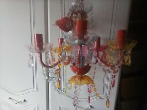 Bright Coloured Acrylic Chandelier