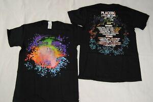 PLACEBO COLOUR SPLASH LOUD LIKE LOVE TOUR 2013 T SHIRT NEW OFFICIAL RARE