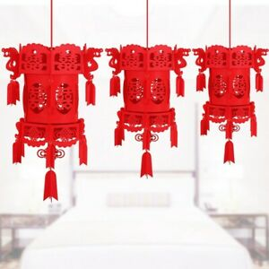 Rouge Tenture Lanterne Heureux Charms Décoration Esthétique Maison Traditionnel