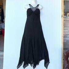 S L Fashions Women Dress Black Size 10 Slip On Formal Party Asymmetrical