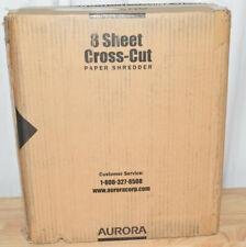 Aurora 8-Sheet Cross-Cut Paper Shredder, Black