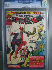 Amazing Spider-Man Annual #1 CGC 8.5 OWW **1st Sinister Six** Marvel Comics 1964
