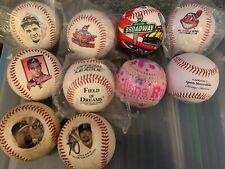 Lot of TEN Commemorative Baseballs (10) Indians Field of Dreams Babe Ruth series
