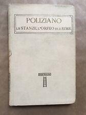 Classici italiani vol. XLII: POLIZIANO - LE STANZE, L'ORFEO E LE RIME