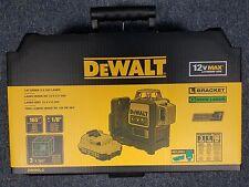 Dewalt DW089LG 12-Volt 3 x 360-Degree Lithium-Ion Green Beam Line Laser NEW