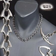 """18"""" 70g HEAVY SHARK BARAKA 925 STERLING SOLID SILVER MENS NECKLACE CHAIN PRE"""