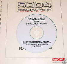 RACAL-DANA 5004 DMM Instruction Manual (Ops & Service)