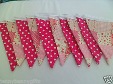 Pink Patchwork and Pink Spot Double Sided Bunting 3.5m/11ft Long