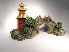 Aquarium Ornement, japonais Pont Ornement, Aquarium Décoration Oriental
