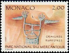 """MONACO N° 1663 """"INSCRIPTIONS RUPESTRES, LE SORCIER""""xxTTB"""