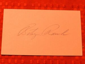 Betsy Rawls Golfer Autograph Autographed Index Card Free Shipping