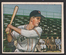 1950 Bowman #221 Donald Don Mueller no copyright variation Giants baseball card