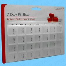 7 Day Pill Box Large Compartment Tablet Medicine Dose Dispenser