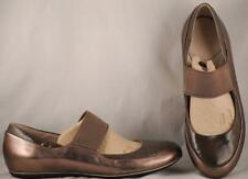 Women's Privo by Clarks Bronze Leather Flat Mary Janes 8.5 M