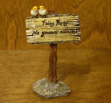 Top Collection Enchanted Story Fairy Garden #4252 FAIRY PARTY...NO GNOMES  SIGN