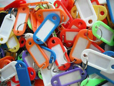 12x Plastic IDTags Name Card Language Fob Label Keychain Key Ring stationery set
