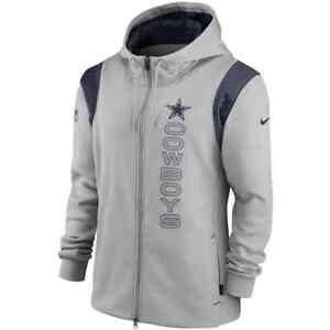Brand New 2021 NFL Dallas Cowboys Nike Sideline Team Performance Full-Zip Hoodie