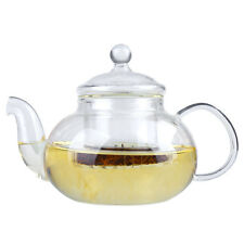 Heat Resistant Clear Glass Teapot With Infuser Coffee Tea Leaf Pot 800ML