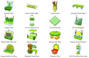 Webkinz game online virtual 16 items RETIRED WSHOP LILY PAD, FROG, SWAMP THEME
