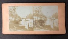 Vintage Stereo-View Stereoscopic Photo #A129: Black Creek Fla. Steam Paddle Boat