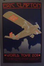 Eric Clapton World Tour | Orig. 2011 Silkscreen Concert Poster *Rare