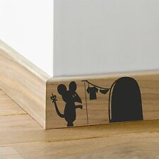 Mouse Hole Laundry skirting board sticker  - Wall Art Decal Stickers Quality New