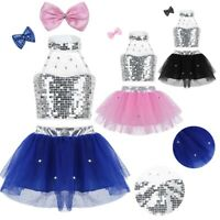 Girls Stage Performance Dance Wear Kids Jazz Hip Hop Modern Dancing Show Costume