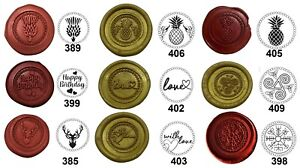 Wax Stamp Sealing, COINS ONLY, 250 Wax Seal designs. (excludes handle & no wax)