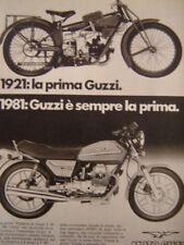 MOTO GUZZI GUZZI -1981 ADVERT