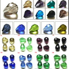 Beads Crystal Glass Loose Spacer 7x5mm 12x8mm Teardrop Faceted Rhinestone