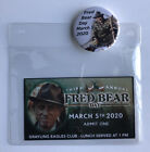 Fred Bear Day Pin & Ticket Fred Bear Archery Traditional & Recurve Bow Collector