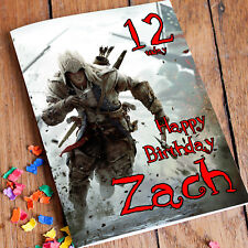 ASSASSIN'S CREED Personalised Birthday Card! FAST 1st Class Shipping!